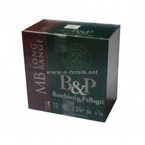 B&P Pellagri 12Cal. 36Gr. MB Long Range Av Fişeği