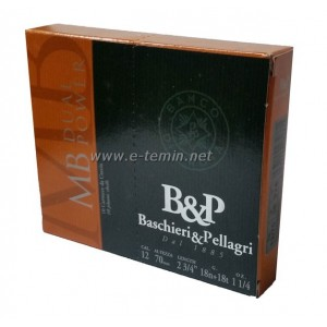 B&P Pellagri MB Dual Power 12Cal. 36 Gr. Av Fişeği