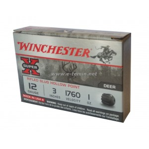 Winchester Super-X Rifled Slug Hollow Point Magnum Tek Kurşun